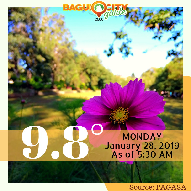 At 9 8°C Baguio just experienced the coldest temperature